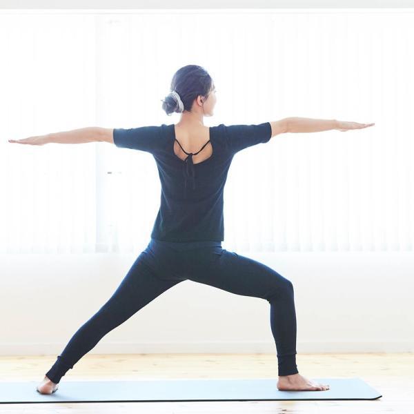 ヨギーサンクチュアリ ヨガウェア トップス オープンバックタイTシャツ yoggy sanctuary|yoga-pi|08