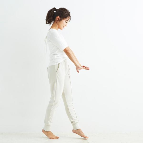 ヨギーサンクチュアリ ヨガウェア トップス オープンバックタイTシャツ yoggy sanctuary|yoga-pi|10