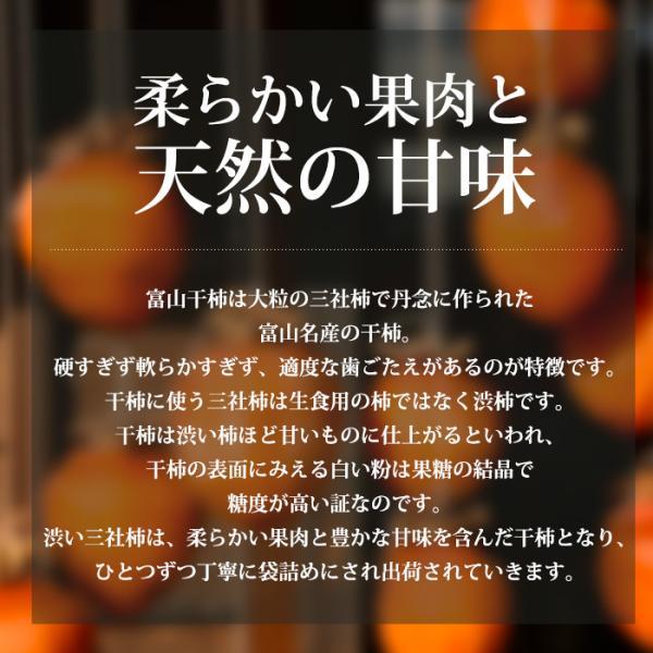 干し柿 富山干柿 大粒 2L〜3Lサイズ 富山県ふるさと認証食品 ギフト 送料無料|yogmogg|02