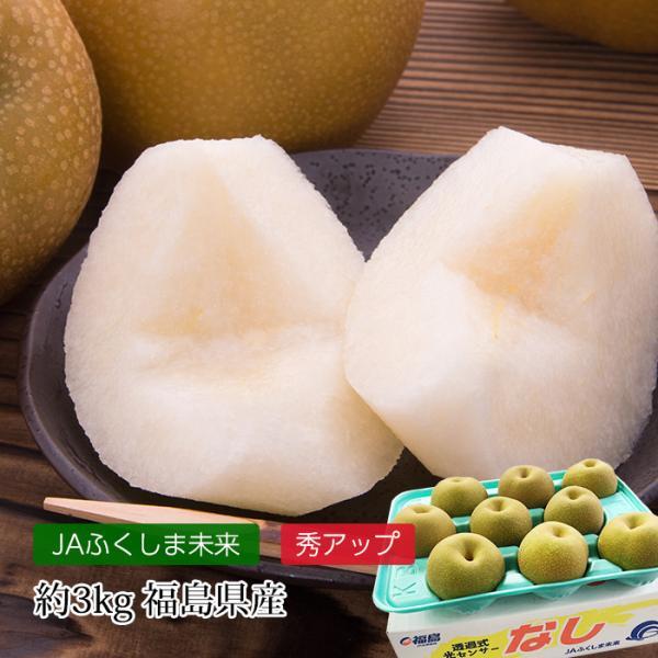 梨 幸水 約3kg 9〜12玉 福島県