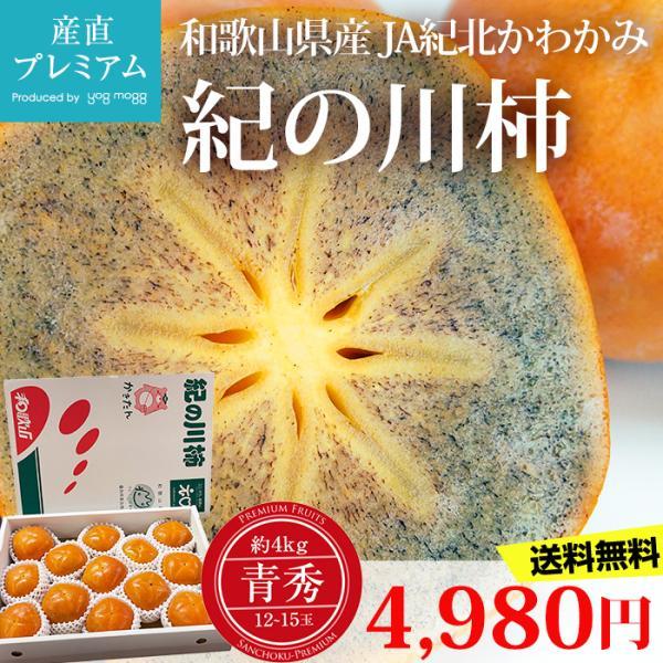 柿 紀の川柿 青秀 約4kg 12〜15玉 和歌山県