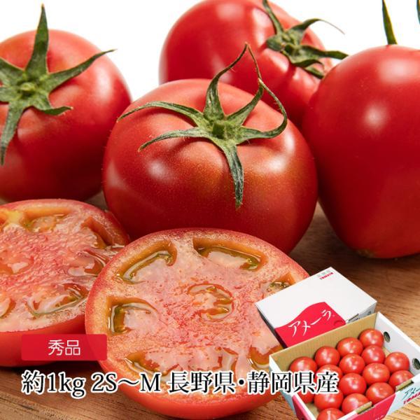 トマト 高糖度フルーツトマト アメーラ 秀品 約1kg 2S〜Mサイズ 12〜20個 長野県産 静岡県産