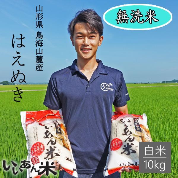 無洗米 10kg 白米 はえぬき 令和3年産 いいあん米 山形 庄内 米