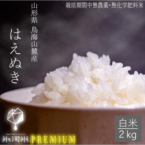 令和2年産 化学肥料不使用 農薬不使用 はえぬき 白米2kg