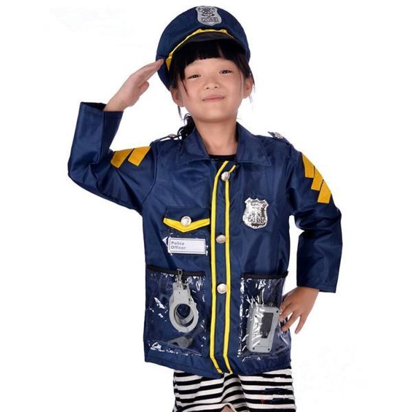 ハロウィン 仮装 子供 警官 コスチューム 警察 お巡りさん 消防士 パイロット 男の子 女の子 キッズ服 Halloween コスプレ 警察官 ポリス 変装 パーティー道具|yogurt-blossom