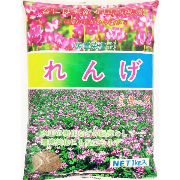 レンゲ種子 1kg (播種量3kg〜4kg/10a) yohonsha-japan