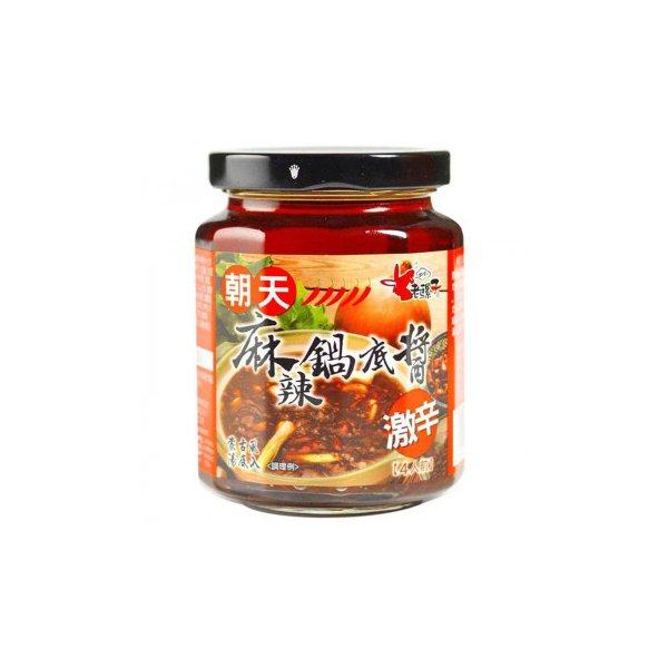 老騾子牌朝天麻辣鍋底醤(激辛鍋の素) (台湾産) 260g×24本 210223 送料無料
