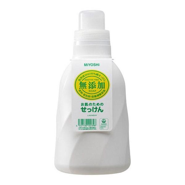 ミヨシ石鹸 無添加 お肌のための洗濯用 液体せっけん ボトル 1.1L