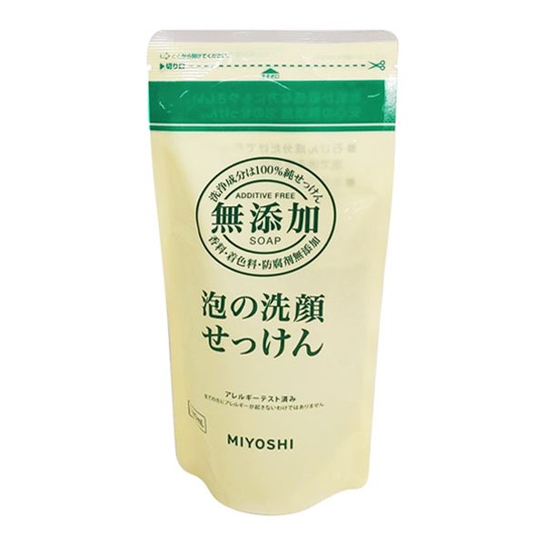 ミヨシ石鹸 無添加 泡の洗顔せっけん 詰替用180ml