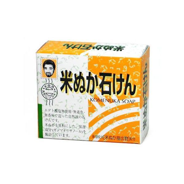 杉食 米ぬか石けん [米ぬかから抽出した保湿成分配合] 80g