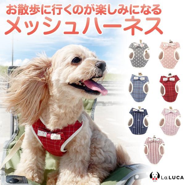|ハーネス リード セット 小型犬 猫 LaLUCA ステップハーネス ウェアハーネス 犬猫兼用 首…
