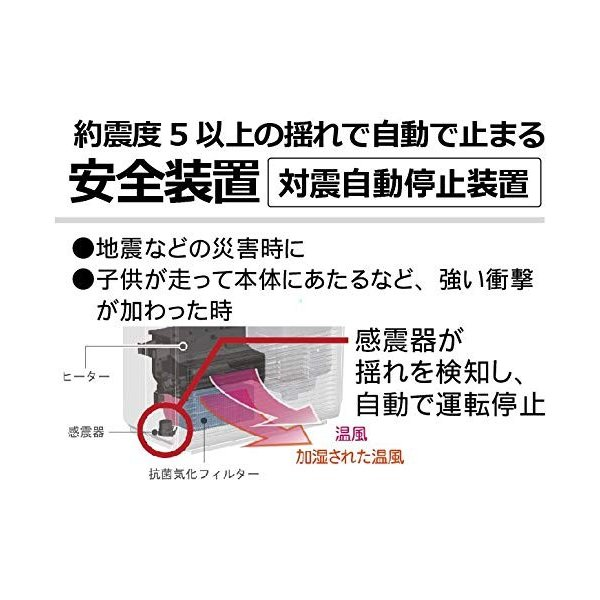 ダイニチ 加湿セラミックファンヒーター ホワイト EFH-1217D-W