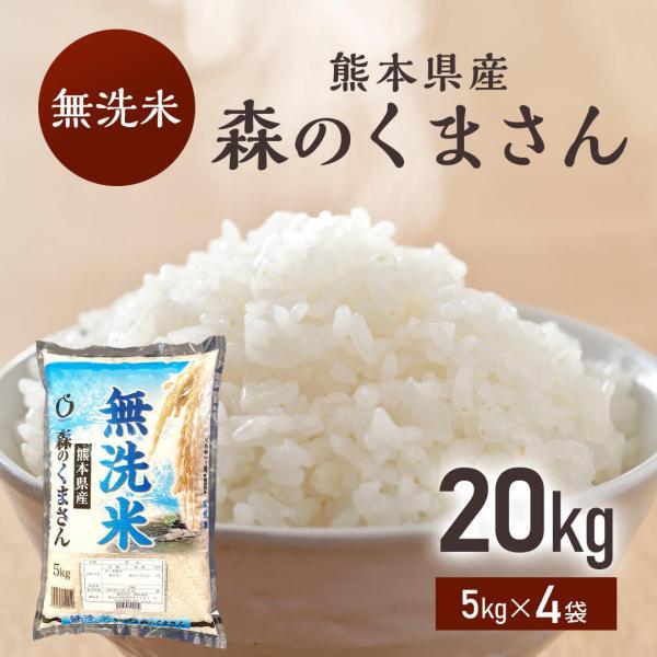 【無洗米】令和2年産米 熊本県産森のくまさん 無洗米20kg 【送料無料】