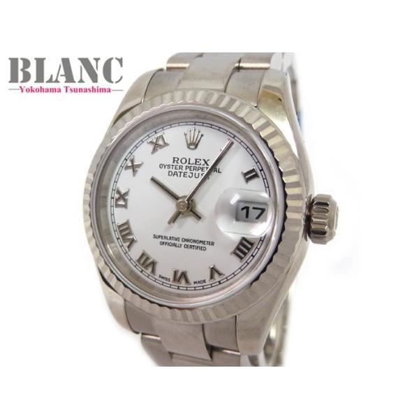 【OH済み】【仕上済み】 ロレックス デイトジャスト 179179 K番 K18WG ホワイト文字盤 腕時計 レディース ROLEX 横浜BLANC 【送料無料】