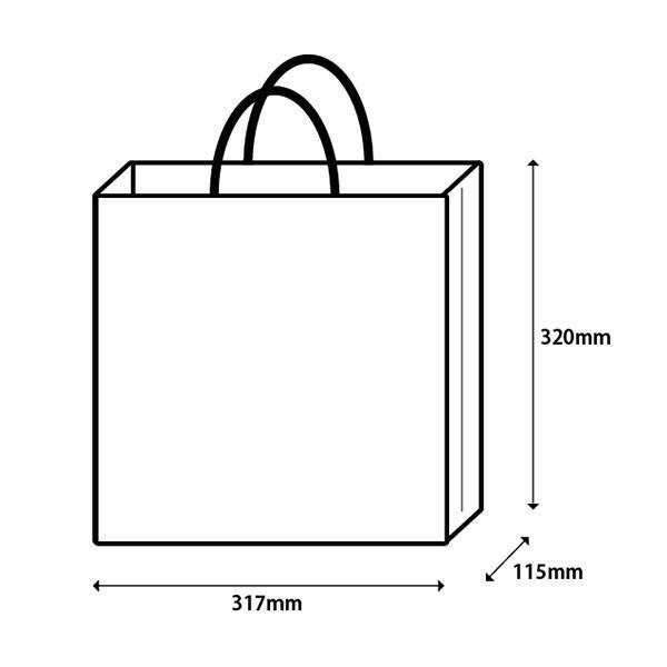 紙袋 白 h320×w317×d115|yokohama-monterosa|02