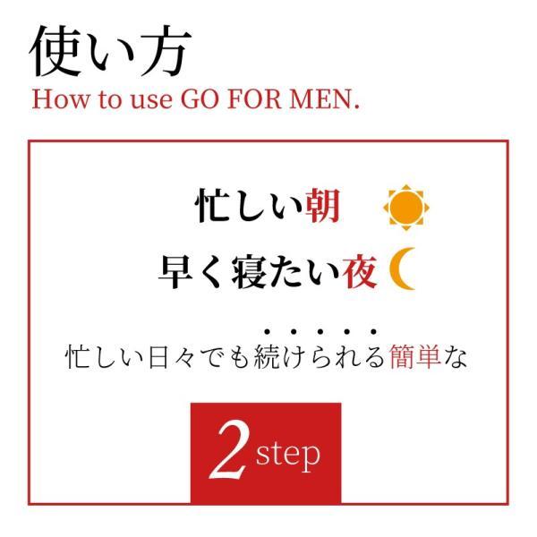 男性化粧品 スキンケア GO FOR MEN 30mL オールインワン メンズコスメ 化粧水 美容液 エイジングケア アフターシェービング 肌荒れ防止 送料無料 ポイント消化|yokojapan|10
