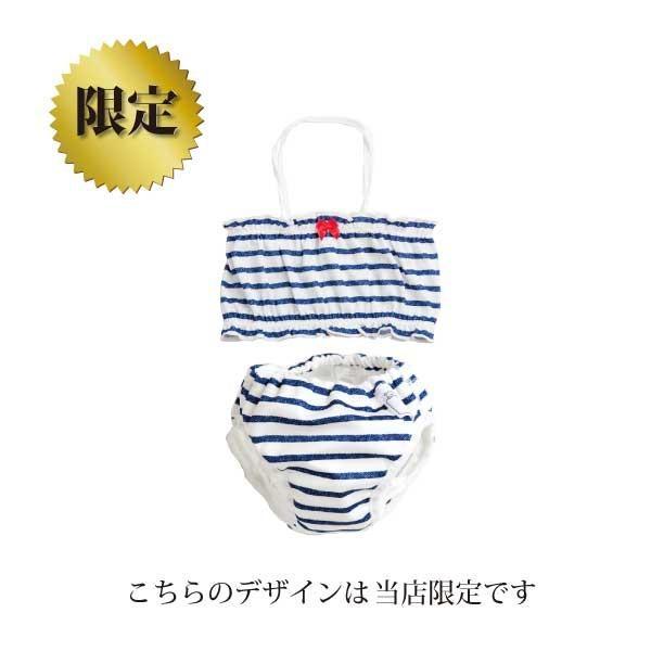 ベビー 水着 女の子 チューブトップ 水遊びパンツ ベビースイミング 日本製 ビキニ|yokoronstore|04