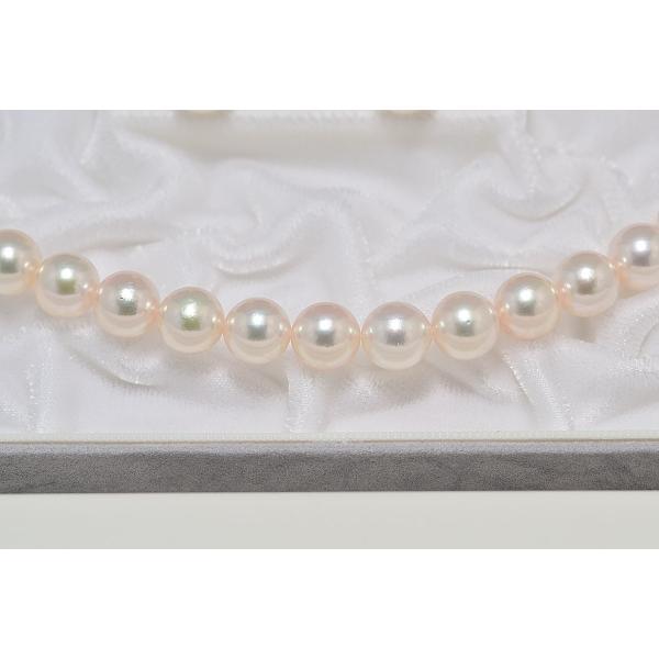 オーロラ天女鑑別書付き あこや真珠9.0mm〜9.5mmネックレス&9.1mmイヤリングまたはピアス2点セット|yokota-pearl|04