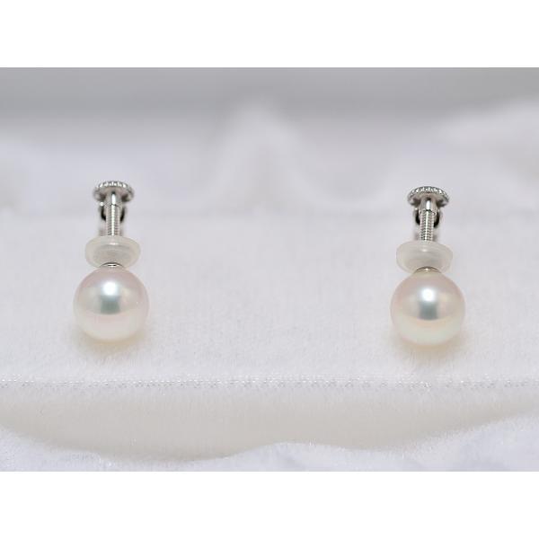 オーロラ天女鑑別書つき あこや真珠ネックレス 6.5mm〜7.0mm イヤリングまたはピアス7.2mm 2点セット|yokota-pearl|03