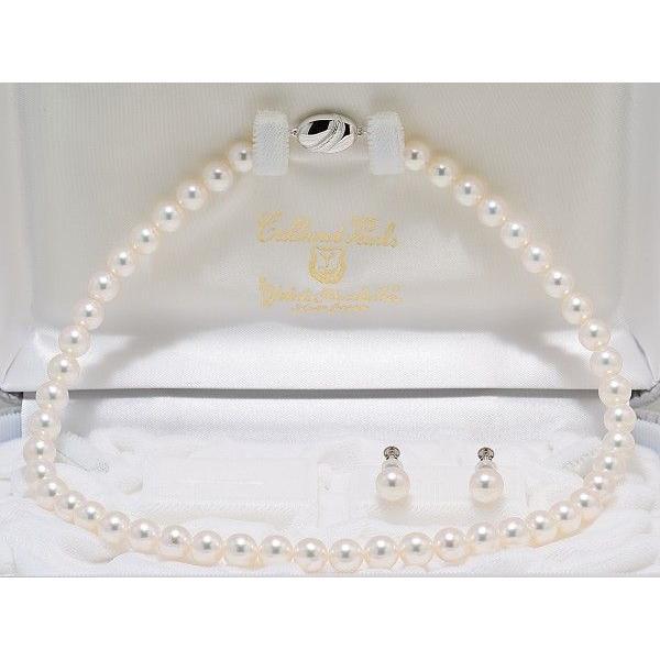 あこや真珠ネックレス8.0mm〜8.5mm 2点セット オーロラ天女鑑別書付き|yokota-pearl