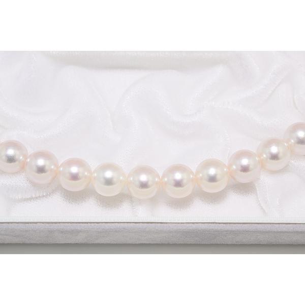 パールネックレス オーロラ花珠鑑別書つき あこや真珠ネックレス 8.5mm〜9.0mm イヤリングまたはピアス 2点セット|yokota-pearl|04