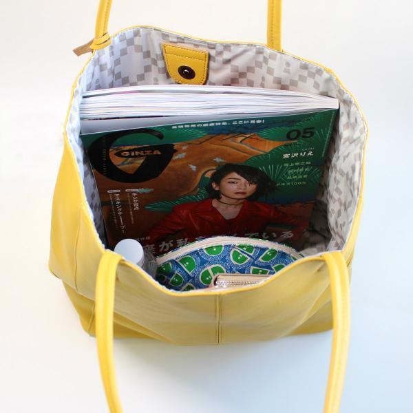 ピッコーネ アッチェッソーリ レザートートバッグ 縦型大サイズ 山羊革製 通勤用 カジュアル 673PI114