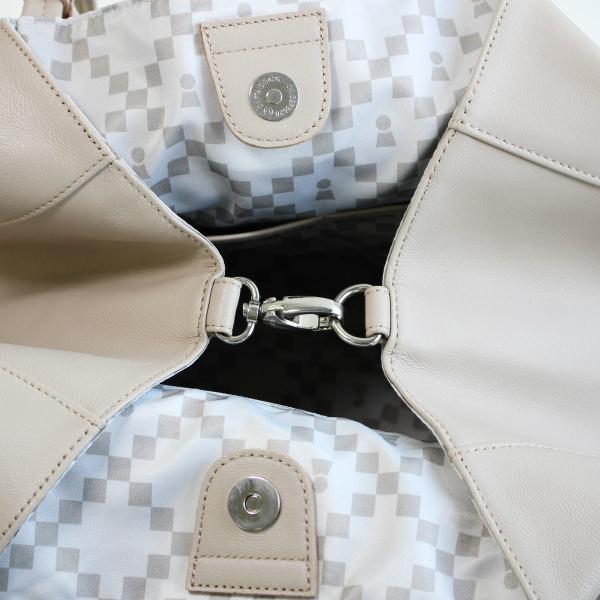 ピッコーネ アッチェッソーリ レザートートバッグ 横型大サイズ 山羊革製 通勤用 カジュアル 673PI115