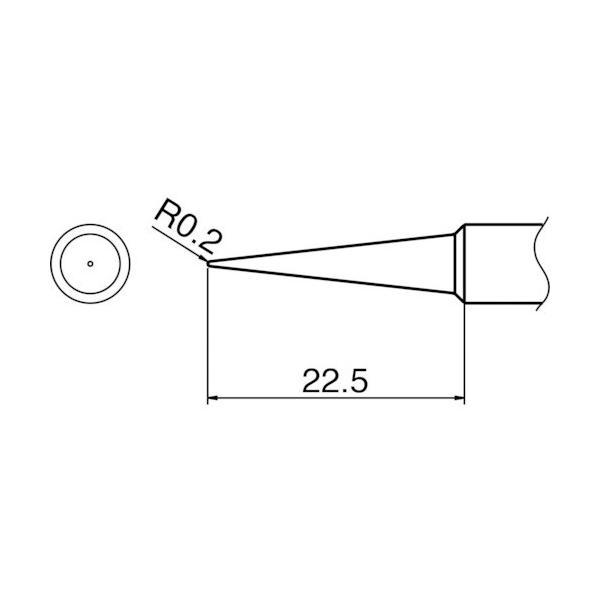白光 T18-BL こて先 BL型 【500211】