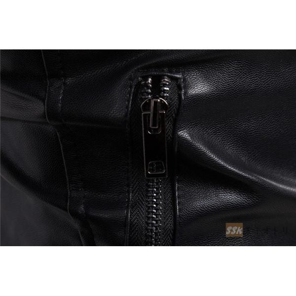 バイクジャケット ジャケット メンズ 立ち襟 バイクウェア 革ジャン ライダースジャケット 防風 防寒 おしゃれ|yoshikootory|11