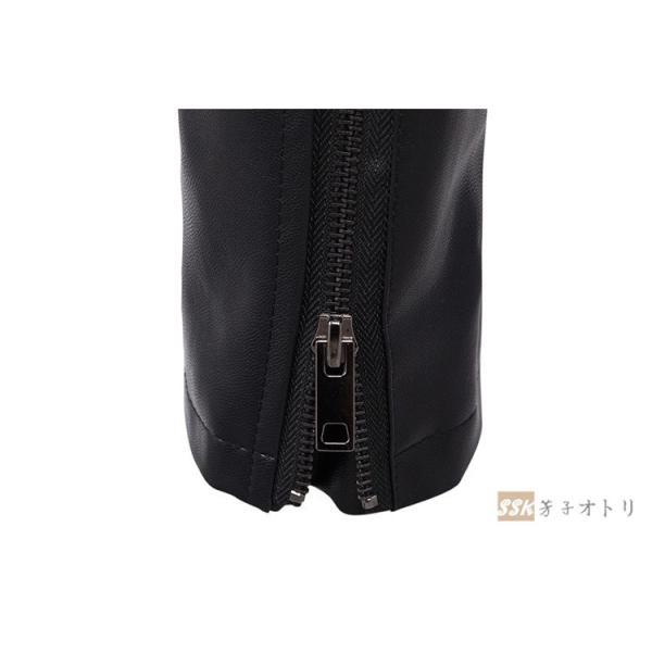 バイクジャケット ジャケット メンズ 立ち襟 バイクウェア 革ジャン ライダースジャケット 防風 防寒 おしゃれ|yoshikootory|12