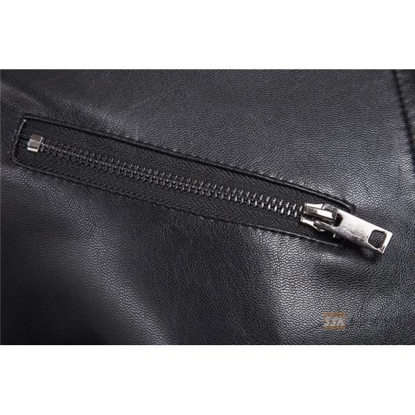 バイクジャケット ジャケット メンズ 立ち襟 バイクウェア 革ジャン ライダースジャケット 防風 防寒 おしゃれ|yoshikootory|07