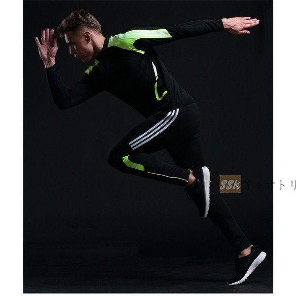 トレーニングウェア メンズ 上下セット 運動着 ランニング スポーツウェア ジャージ上下 吸汗速乾 長袖 2019 春服 yoshikootory 05