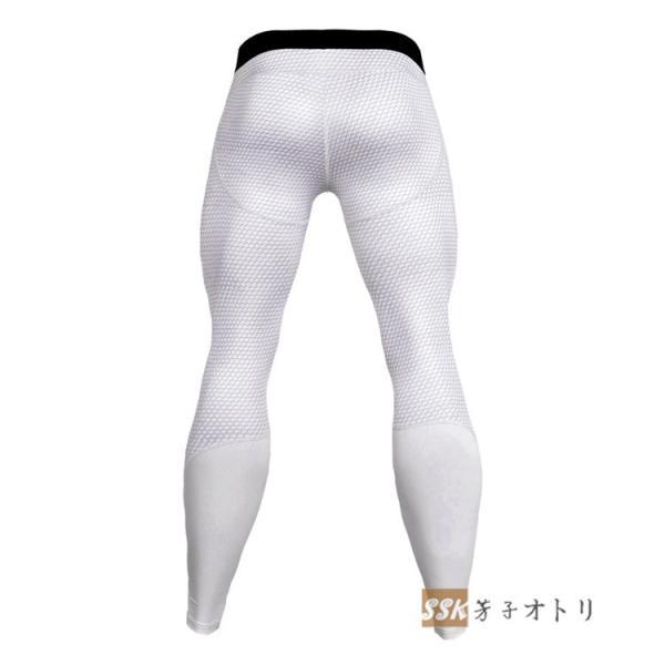 トレーニングパンツ アイスコンプレッション スポーツタイツ レギンス ロングタイツ メンズ 3Dプリント 吸汗 速乾 夏|yoshikootory|08