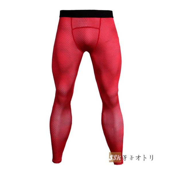 トレーニングパンツ アイスコンプレッション スポーツタイツ レギンス ロングタイツ メンズ 3Dプリント 吸汗 速乾 夏|yoshikootory|10
