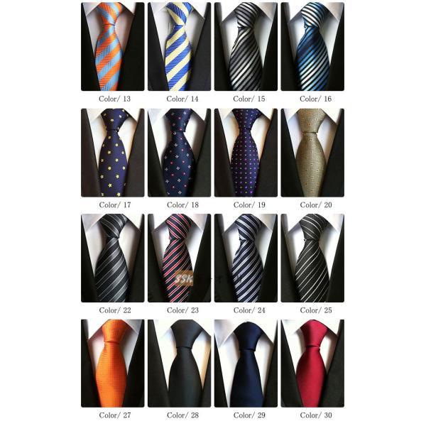 ネクタイ メンズ ビジネス レギュラーネクタイ フォーマル 紳士用 ストライプ柄 選べる28柄 結婚式 メンズファッション|yoshikootory|04