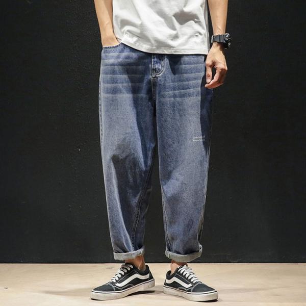 デニムパンツ メンズ ワイド ゆったり 涼しいズボン ボトムス イージーパンツ デニム ジーパン メンズファッション yoshikootory