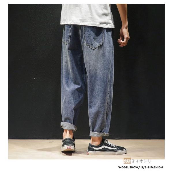 デニムパンツ メンズ ワイド ゆったり 涼しいズボン ボトムス イージーパンツ デニム ジーパン メンズファッション yoshikootory 11