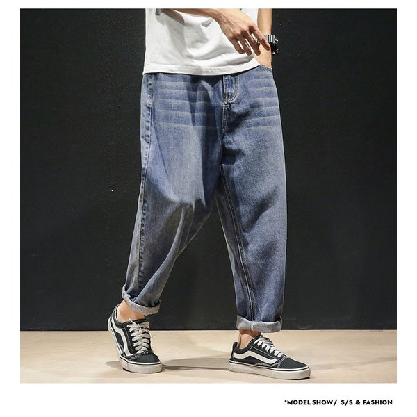 デニムパンツ メンズ ワイド ゆったり 涼しいズボン ボトムス イージーパンツ デニム ジーパン メンズファッション yoshikootory 06