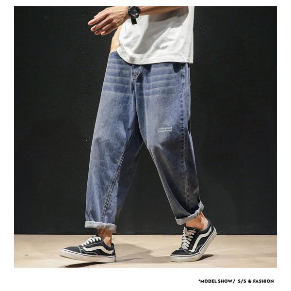 デニムパンツ メンズ ワイド ゆったり 涼しいズボン ボトムス イージーパンツ デニム ジーパン メンズファッション yoshikootory 08