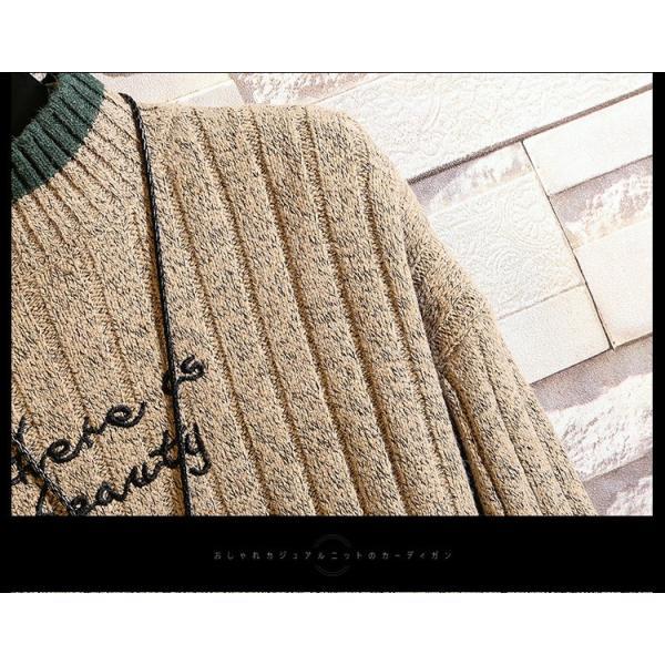 ニット メンズ モックネック ニットセーター リブ編み セーター トップス 秋冬 あったか ルームウェア|yoshikootory|11