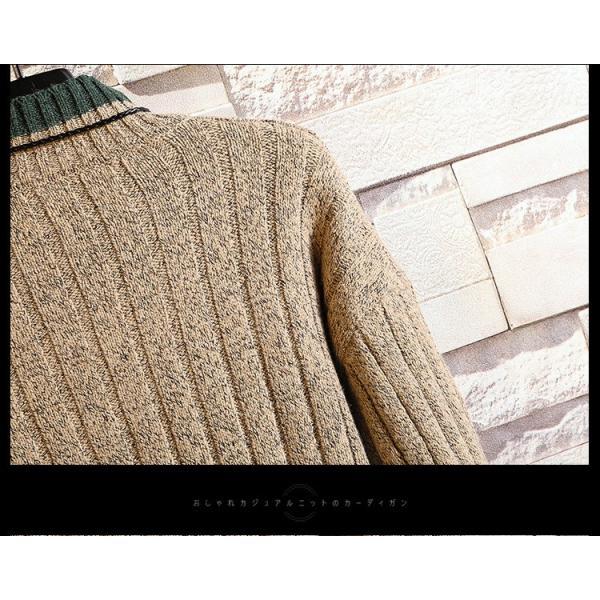 ニット メンズ モックネック ニットセーター リブ編み セーター トップス 秋冬 あったか ルームウェア|yoshikootory|13