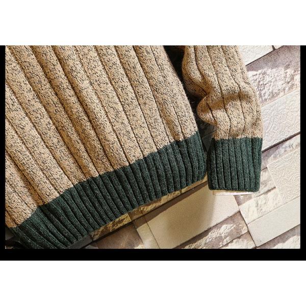 ニット メンズ モックネック ニットセーター リブ編み セーター トップス 秋冬 あったか ルームウェア|yoshikootory|15