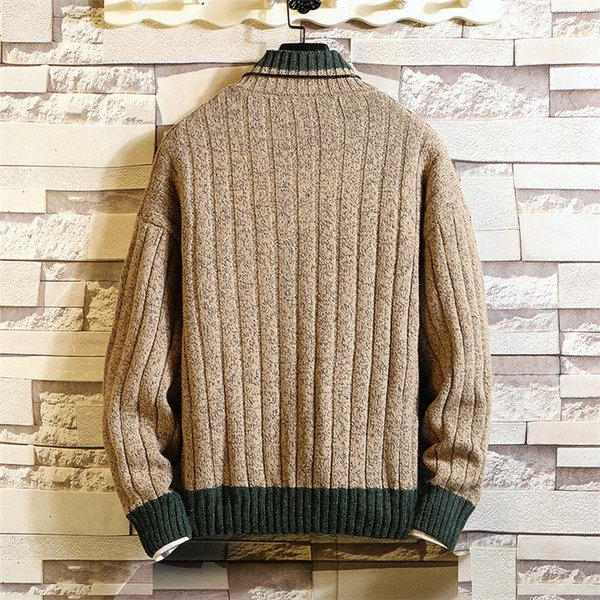 ニット メンズ モックネック ニットセーター リブ編み セーター トップス 秋冬 あったか ルームウェア|yoshikootory|09