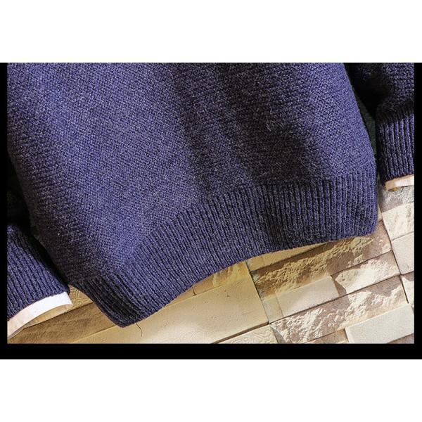 ニットセーター ニット メンズ リブ編み クルーネック トップス 秋冬 秋物 あったか ルームウェア プルオーバー|yoshikootory|14