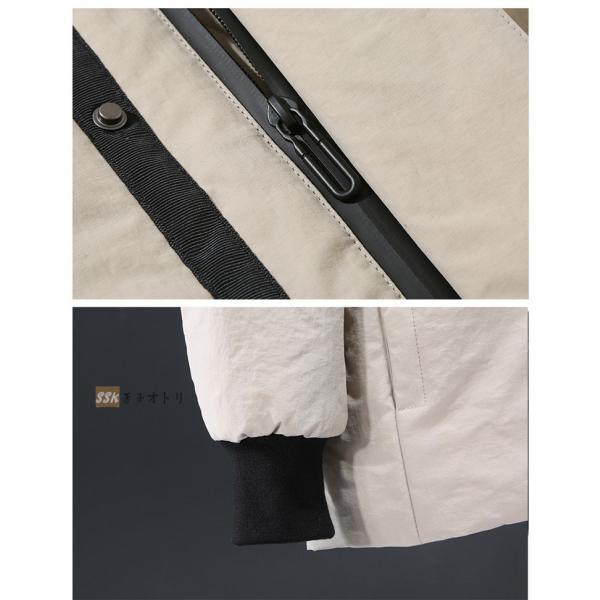 ダウンジャケット メンズ ブルゾン ジャケット アウター 暖かい 防寒 暖かい 防寒 アウトドア 冬服 ジップアップ|yoshikootory|12
