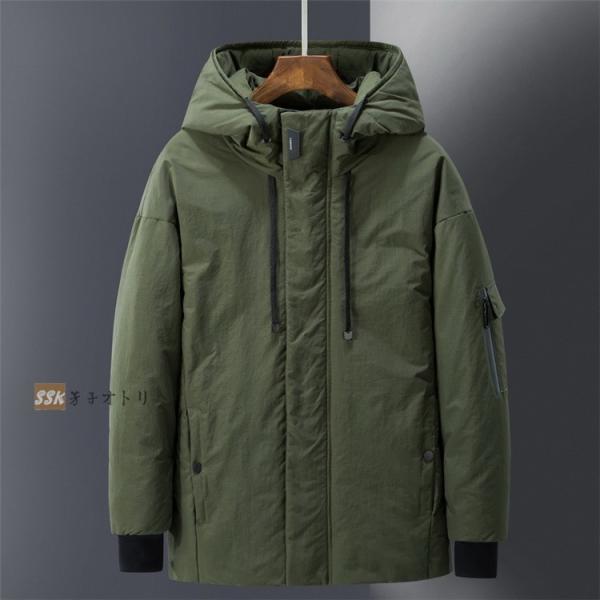 ダウンジャケット メンズ ブルゾン ジャケット アウター 暖かい 防寒 暖かい 防寒 アウトドア 冬服 ジップアップ|yoshikootory|05
