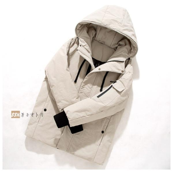 ダウンジャケット メンズ ブルゾン ジャケット アウター 暖かい 防寒 暖かい 防寒 アウトドア 冬服 ジップアップ|yoshikootory|08
