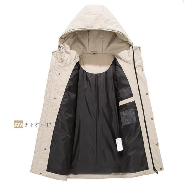 ダウンジャケット メンズ ブルゾン ジャケット アウター 暖かい 防寒 暖かい 防寒 アウトドア 冬服 ジップアップ|yoshikootory|09
