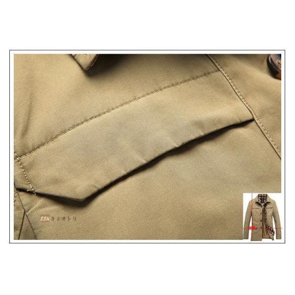50代ファッション ミリタリージャケット ジャケット メンズ ブルゾン M65 防寒着 ボアジャケット アウター 厚手 冬服 秋冬|yoshikootory|14