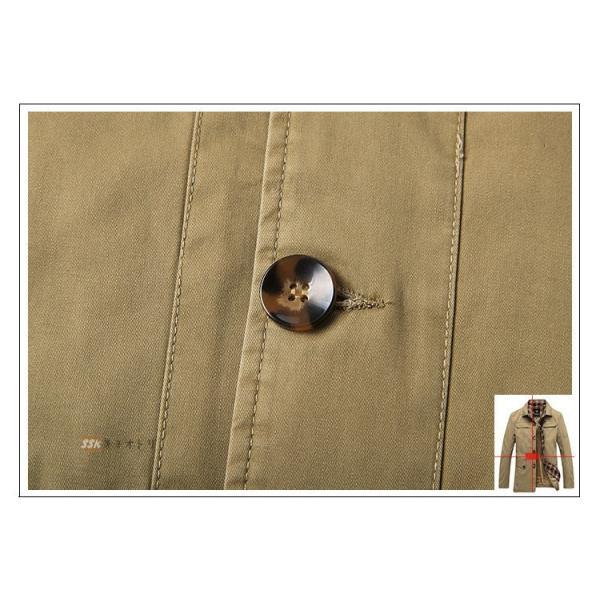 50代ファッション ミリタリージャケット ジャケット メンズ ブルゾン M65 防寒着 ボアジャケット アウター 厚手 冬服 秋冬|yoshikootory|15